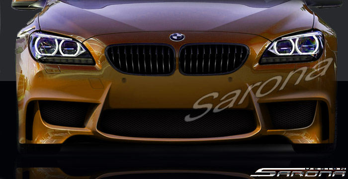 Custom BMW 6 Series  Coupe, Convertible & Sedan Front Bumper (2011 - 2016) - $850.00 (Part #BM-046-FB)
